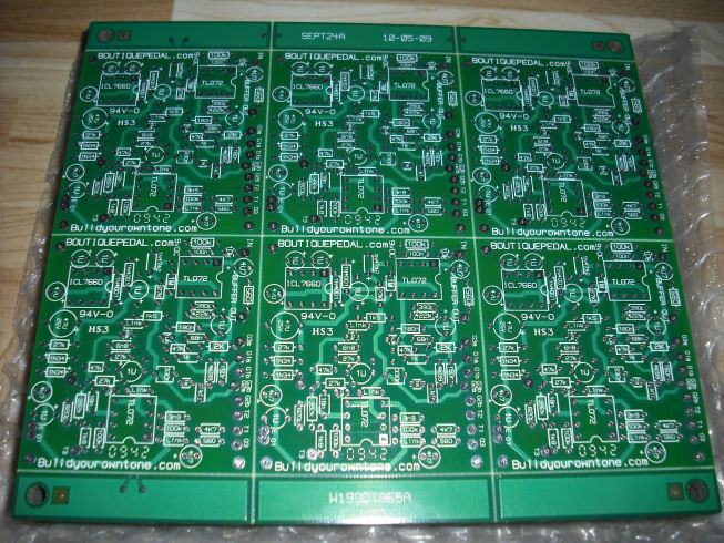 Klon Centaur type clone circuit boards